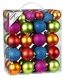 50 Christbaumkugeln 4cm und 6cm PVC Box 'Mille-Fiori-Mix' bunt 7702136