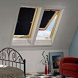 Kinlo 57*100cm Sonnenschutz Dachfensterrollo Rollo Auto für Velux Dachfenster Auto mit...