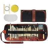Kulannder 46 Stück Ton-Modellierwerkzeuge Tonwaren-Set Schnitzwerkzeuge Handwerk Anfänger Geschenk...