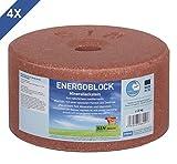 ENERGOBLOCK 4er Set Mineralleckstein, 4x 3kg