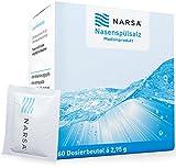 NARSA® Nasenspülsalz 60stk zur Reinigung der Nase bei Erkältung / Allergie / Trockener Nase /...