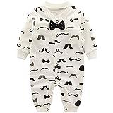 Baby Jungen Strampler Spielanzug Schlafanzug Säugling Baumwolle Overalls Baby-Nachtwäsche, 9-12...