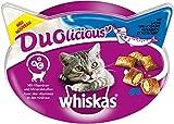 Whiskas Katzensnacks Duolicious mit Lachs und Joghurt, 8 Packungen (8 x 55 g)
