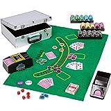 Maxstore Ultimate Pokerset Alu Pokerkoffer Deluxe, 300er BZW. 600er Edition, 12 Gramm METALLKERN...