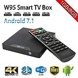 Sawpy W95 Android TV Box Android 7.1 Smart TV Box 64bit Quad Core CPU 1GB +8GB 4K UHD WiFi & LAN VP9...