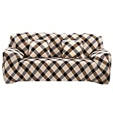 Souarts Sofabezug elastische Stretch SofaBezug mit 4 verschienden Größe Bezug Couchsessel Stretch...