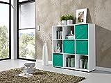 Raumteiler Bücherregal Regal Standregal Ordnerregal Büroregal (Weiß)