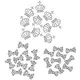 COM-FOUR® 30-teiliges Set 3D NailArt Nagelschmuck in verschiedenen Formen mit Strass