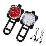 LED Fahrradlicht, LED Frontlicht und Rücklicht Für Fahrrad USB LED Fahrradlicht Set,...
