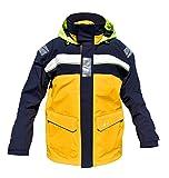 crazy4sailing Damen Herren Segeljacke Bergen Offshore Jacke, Größe:L, Farbe:GOLD / navy / weiß
