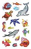 Avery Zweckform 53707 Kinder Sticker Meerestiere 30 Aufkleber
