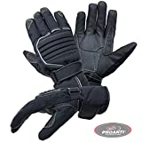 Motorradhandschuhe PROANTI Regen Winter Motorrad Handschuhe (Gr. XS-XXXL, schwarz)