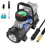 Mbrain Kompressor 12 Volt - Klein Tragbare Digitaler Luftpumpe Luftkompressor Reifenpumpe...