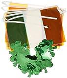 Irland Deko Banner mit Fahne und Kleeblatt