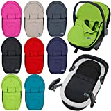 Fußsack/Sommerfußsack für Babyschale Kinderwagenschale Kinderwagen (SCHWARZ)