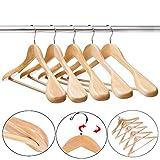 10er-Pack Kleiderbügel aus Holz Holzbügel Garderobenbügel von dem Guger Baum, extra breiten...