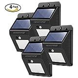 20 LED Sicherheitsbeleuchtung, Solar Human Infrarot PIR Bewegungssensor Licht 3 Intelligente Modi...