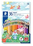 Staedtler 144 ND36 Buntstifte Noris Club (erhöhte Bruchfestigkeit, sechskant, Set mit 36 brillanten...
