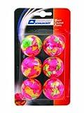 Donic-Schildkröt Tischtennis-Ball MULTICOLOUR POPPS 6er Blistercard, bunt, One Size, 649016