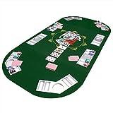 Faltbare Pokertischauflage Poker Tischauflage Pokertisch Casino Pokerauflage 160 x 80 cm