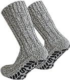 Tobeni 3 Paar ABS Stoppersocken Norwegersocken Socken mit Schafwolle für Damen und Herren Farbe...