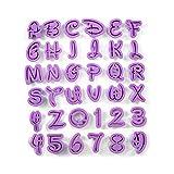 Anokay Fondant Ausstecher Ausstechformen Auswerfer Stempel Alphabet Zahlen Zeichensetzung Buchstaben...