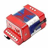 Andoer® Kinder-Akkordeon mit 7 Tasten, 2 Bass-Knöpfen und 1 Blasebalg, Mini-Akkordeon, lehrreiches...