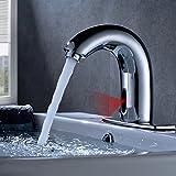 OBEEONR Wasserhahn Sensor Badezimmer Automatische Induktion Kaltwasser Waschtischarmatur...
