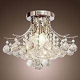 Create For Life® Kronleuchter Moderne Kristall 3 Leuchtet, Mini Style Putz Deckenleuchte Fixture...