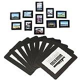 Magnetische Foto-Bilderrahmen und Kühlschrankmagnete, Taschenrahmen für Kühlschrank, weiß,...