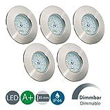 LED Badeinbaustrahler Dimmbar Ultra Flach Inkl. 5 x 5,5W 470 lm LED Modul 230V IP44 Badezimmer LED...