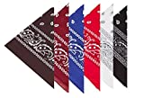 BOOLAVARD 100% Baumwolle, Paisley Bandana Headwear / Haar Schal Ansatz Handgelenk Verpackungs Band...