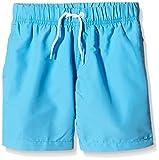 Miami Beach Swimwear Jungen Badeshorts in Unifarben, Blau (Scuba Blue 620), 140