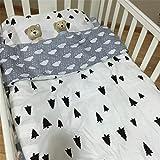 3PCS 100% Baumwolle Baby Comfort Bettwäsche-Set für Babybett, 1Bettwäsche & 1Bettbezug &...