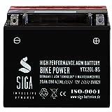 Motorrad Batterie YTX20L-BS AGM GEL 20Ah 12V 290A/EN Quad Motorradbatterie YTX20L-4 Harley FXSTC...
