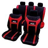 WOLTU AS7259 Sitzbezüge Auto für PKW ohne Seitenairbag, Super Speed, rot