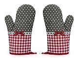 Rusty Bob - Ofenhandschuhe zum Backen | Backofenhandschuh aus Baumwolle | Hitzebeständig | in...