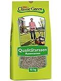 Classic Green Rasensaat Mischung zum Begrünen Rasensaat 10kg| Grassamen | Rasensamen 10kg | Premium...