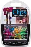 Dekorative Libellen-Pflanzenclips aus Kunststoff - farblich sortiert (6er-Packung)