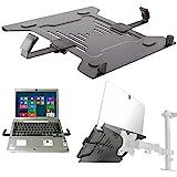 Laptop Halterung Adapterplatte schwarz an Wandhalterung Tischhalter Halterplatte VESA 100 für...