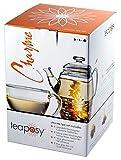 Edles exklusives Teaposy Teeblumen - Geschenkset 'Charme' mit Teekrug 500ml, großer 250ml Tasse und...