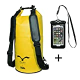 HAWK Outdoors Dry Bag- wasserdichter Packsack mit gepolsterten Schulter-Gurten inklusive...