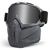 LAMEDA Motorrad Maske Brille Herren Motorrad Goggle Gesichtsmaske Schutzmaske männer Schutzbrille...