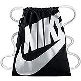 Nike Unisex Turnbeutel Heritage, black/white, 43 x 33 cm, BA5351-011
