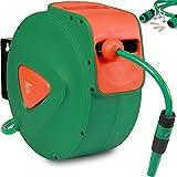 Schlauchaufroller Schlauchtrommel Wasserschlauchtrommel automatischer Aufroller inkl. 20m Schlauch...