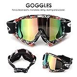 AUDEW Motorrad Goggle Motocross Dirtbike Crossbrille Sportbrille Wind Staubschutz Fliegerbrille...