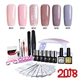 Modelones UV Nagellack Starter Set Kit Mit UV/LED lichthärtungsgerät Mini Nageltrockner Top Coat...