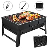 GolWof Holzkohlegrill Faltbare BBQ Grill Holzkohlegrill Edelstahl Portable Outdoor Campinggrill...