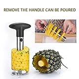 FOCCTS Ananasschneider, Cromargan Edelstahl, spülmaschinengeeignet, schneidet Ringe und löst das...