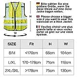Salzmann 3M Scotchlite Warnweste Unisex Hoch Sichtbarkeit Warnweste ausgestattet mit 3M Scotchlite...